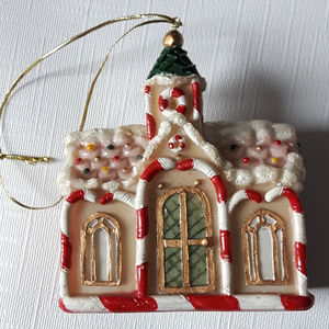 Dezine Hand Painted Ornament Gingerbread city hall